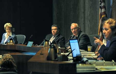 <strong>Tough decisions:</strong>  After a grueling year filled with cuts, furloughs, and other cost-cutting measures, the county's Board of Supervisors are in the midst of a dismal week-long process of budget cuts and layoffs.
