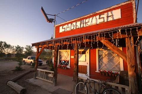 Located on a dusty stretch of Highway 33 in Ventucopa, Sagebrush Annie's is destination dining at its finest, a place where eating and drinking are just a small part of the fun.