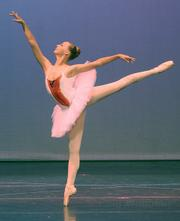 "Ruth Langill performed a solo in ""Divertisments from <em>Paquita</em>,"" the opening piece in State Street Ballet's Summer Intensive Performance."