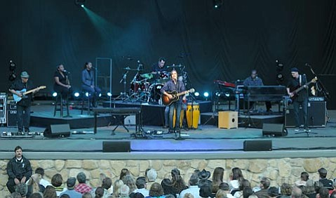 Jackson Browne at the County Bowl on Sunday night.