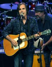 Jackson Browne delivered two sets of new tunes and old favorites during his Sunday night performance at the Bowl.