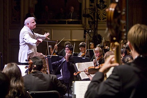 Leonard Slatkin conducted the Academy Festival Orchestra in an outstanding performance of Tchaikovsky's <em>Symphony No. 4</em>.