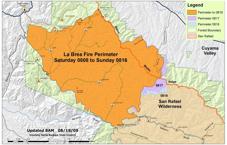 La Brea Fire Tuesday Morning Report