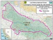 La Brea fire closure area, August 19
