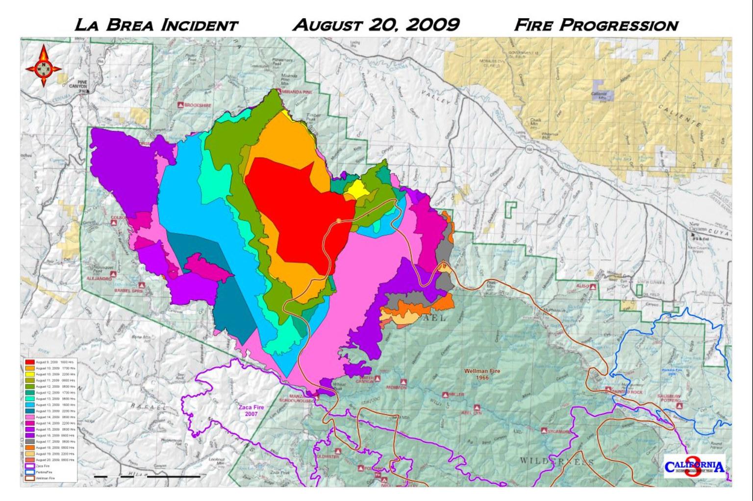 La Brea Fire Report For Saturday