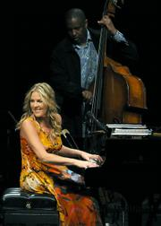 Diana Krall filled her Sunday night stint at the Santa Barbara Bowl with beautiful music from her latest release, <em>Quiet Nights</em>.