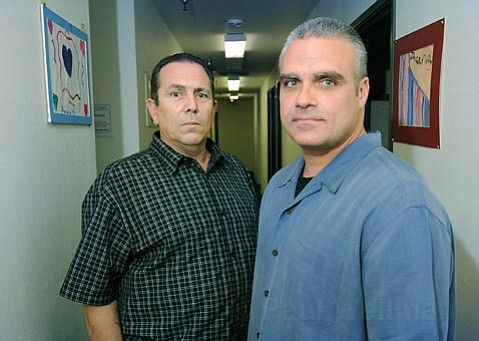 <strong>Real reform:</strong>  Due in part to the relentless efforts of Ron Costa (left) and Steve Farugie, the Santa Barbara County Re-Entry Project achieved remarkable results in keeping people recently released from state prison from re-offending. As the Legislature debates whether to release 27,000 inmates to cut costs, the project finds itself struggling to stay afloat.