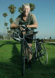 <strong>Two-wheeler:</strong>  Ralph Fertig, president of the Santa Barbara Bicycle Coalition, said his organization does an annual survey of bicycling traffic in the City of Santa Barbara, and in June it showed a 16-percent increase in the number of riders over the previous four years.