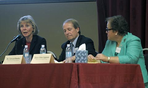 Left to right Lois Capps, Dr. Edward Bentley and Joyce Ellen Lippman