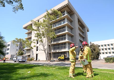 Santa Barbara County and City Fire responded to UCSB's Biological Sciences building 2