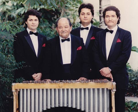 A beloved musical fixture for 63 years in Santa Barbara including 30 years at the Biltmore; here Lencho is seen with sons Rene, Ruben and Lorenzo.