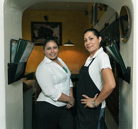 Oaxaca Fresh server Elizabeth Prado (left) and co-owner Maria Jacobo.