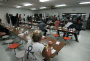 Dinner time at the Rescue Mission