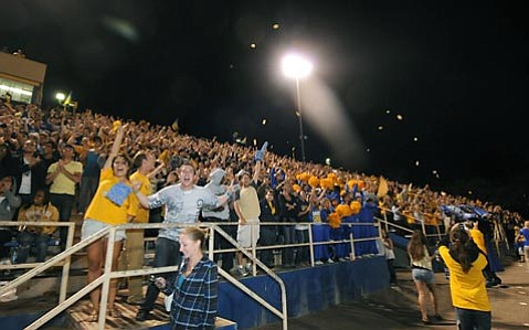 UCSB fans celebrate Danny Barrera's goal in the second half of the match against Indiana