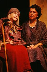 Christina Allison (left) and Gretchen Evans in Ensemble Theatre Company's 1999 production of Martin McDonagh's <em>The Cripple of Inishmaan</em>.