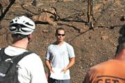 Villanueva goes over the basics of getting water off the trail.