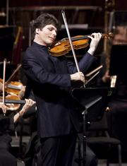 Augustin Hadelich applied consummate musicianship and his 1683 ex-Gingold Stradivari violin to works by Mozart and Paganini.