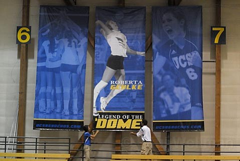"Former Gaucho volleyball great Roberta Gehlke, is the first ""Legend of the Dome."""