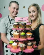Creative cupcakes are what it's all about at Montecito's Whodidily, as displayed by Kody Molitor and Erin Laine.