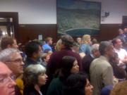 Standing room only in City Hall on election night.