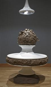 Charles Long, <em>Sundae Sculpting School</em>, 2000. Modeling clay, fiberglass, concrete, light bulb, metal. Santa Barbara Museum of Art, Gift of Shoshana and Wayne Blank.