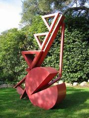 """Three Triangles,"" a sculpture by abstract artist Fletcher Benton."