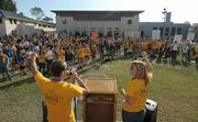 Hundreds rally to save the ESS program at UCSB