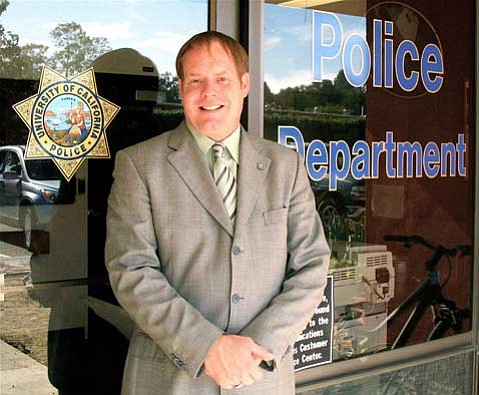Dustin Olson, the new chief of UCSB's campus police.
