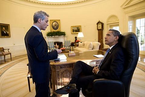 Rahm Emmanuel and Barack Obama