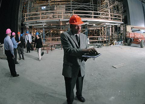 Peter Frisch discusses pending improvements of the Granada Theatre during construction in 2007