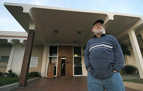 James Robertson stands outside the Santa Barbara County Jail