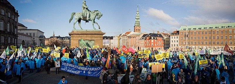 This was the view outside of Denmark's Parliament building on Saturday...Before the real crowds arrived.