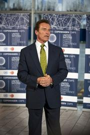 California Governor Arnold Schwarzenegger was on the scene Tuesday. A crowd favorite, The Governator was advocating the role of smaller, local government in taking the lead for enacting climate change, fighting policies no matter the outcome of COP15.