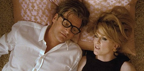 Colin Firth and Julianne Moore star as George and Charley in fashion designer Tom Ford's adaptation of Christopher Isherwood's novel <em>A Single Man</em>.