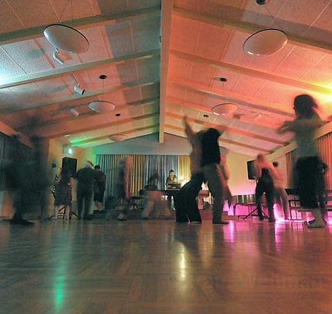 Dance Away's weekly festivities fill the halls of the Unitarian Society on Friday nights.