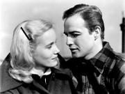Eva Marie Saint and Marlon Brando, in <em>On the Waterfront</em>