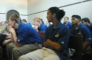 UCSB Soccer teammates in court to show support for Eric Frimpong Feb. 28, 2008
