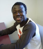 Eric Frimpong during happier times, on vacation in the Bahamas with the Monahan family.