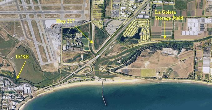 A Map Of The La Goleta Storage Facility