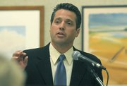 District Attorney candidate Joshua Lynn at the Faulkner Gallery in the Santa Barbara Central Library April 7, 2010