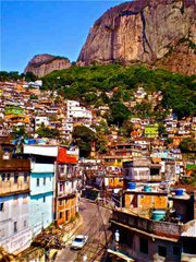 The main street of Rocinha winds up through the colorful, picturesque community.