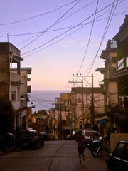 Vidigal, the favela that shares the mountain Dois Irmãos with Rocinha, offers beautiful views of the ocean not found in wealthier neighborhoods found on the asfalto.