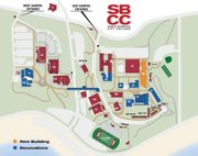 Map of campus improvement projects