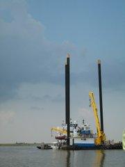 A jack-up barge.