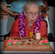 Wilma Kendrick at her 100th birthday
