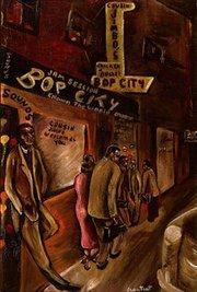 """Jimbo's Bop City, San Francisco"" (1956 by Joseph Overstreet."