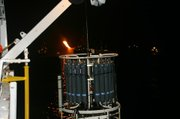The device used by Valentine's team to collect water samples at different ocean depths.