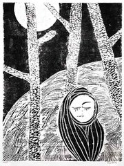 Georgia Bertin's untitled woodcut.