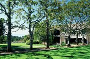Magnolia Lawn and Voskuyl Library, Westmont Campus