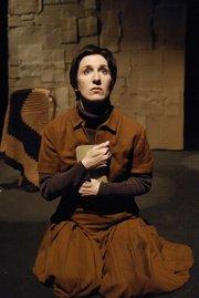 Deborah Latz in <em>The Prisoner</em>, Lit Moon World Theatre Festival, 2002.